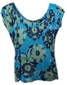 New York & Company Co Floral Summer T Shirt