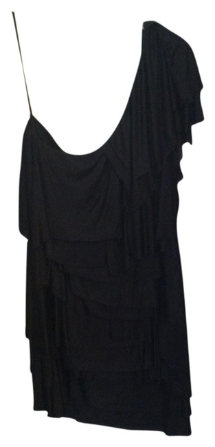 BCBGMAXAZRIA One Shoulder Tiered Dress