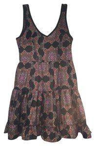 Band of Gypsies short dress Black and colored print on Tradesy