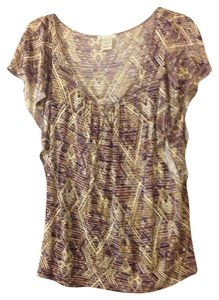 Lucky Brand Top Brown Multi