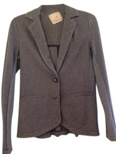 daftbird Blazer Top Gray Herringbone