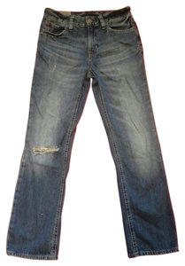 Polo Ralph Lauren Denim Distressed Short Petite Straight Leg Jeans-Distressed