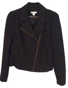 Ann Taylor LOFT Motorcycle Black Jacket