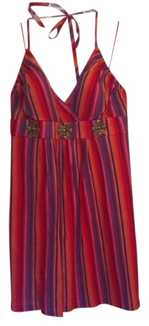 Jessica Simpson short dress red multi Embellished Empire Waist on Tradesy