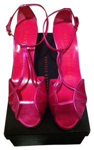 Walter Steiger T-strap Single Sole Comfortable Ladylike Redcarpet Designer Killerheels Greatprice Neverworn Fuschia Sandals