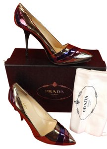 Prada Metalic/Purple/Burgundy Pumps