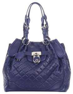 Moschino Quilted Leather Lock Key Shoulder Bag