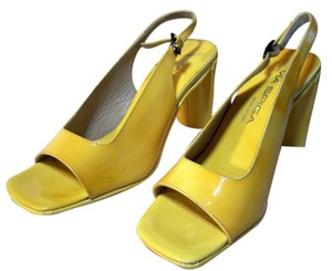 Via Spiga Leather Sandal Yellow patent Sandals
