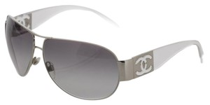 Chanel Chanel Aviator ch4128 Grey, Silver, clear.