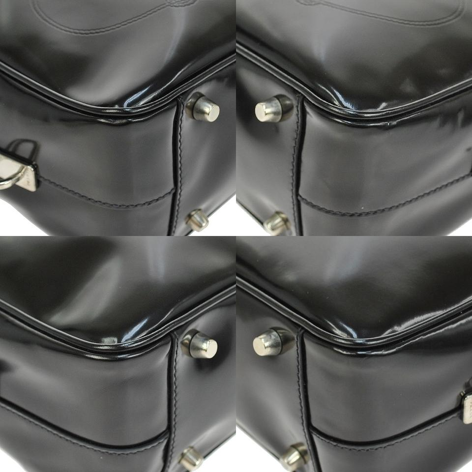 latest prada handbag - Prada Black Patent Leather Spazzolato Boston Handbag Caviar Black ...