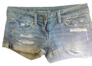 American Eagle Outfitters Cuffed Cut Off Shorts Denim
