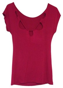 Forever 21 Cutout Soft Top Pink