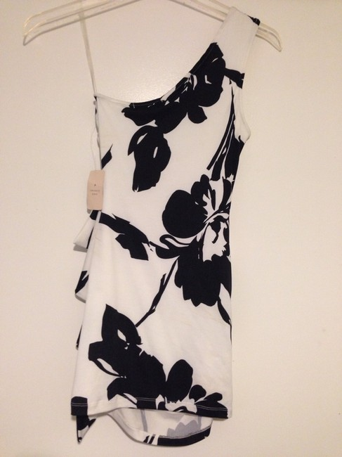 Forever 21 One Shoulder Floral Ruffle Party Mini Dress