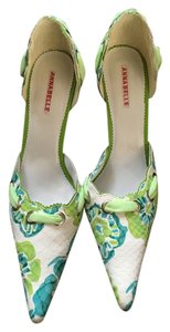 Annabelle Lara Pump Floral White, Blue and Green Pumps
