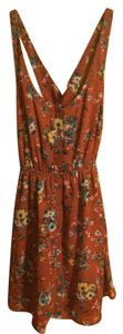 Wet Seal short dress Brown/Floral Floral on Tradesy
