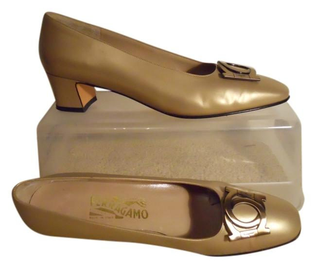 Item - Gold Leather Pbo Pumps Size US 9.5 Narrow (Aa, N)