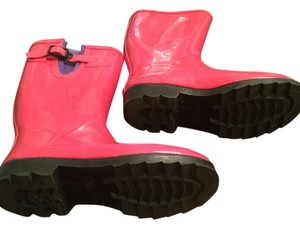 Merona Prep Preppy Garden Waterproof Hot pink purple Boots