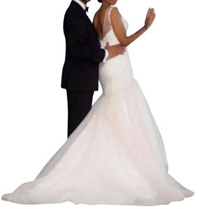 Impression Bridal by Zurc Blush. As Shown Sheer Satin Tulle Beaded Sexy Wedding Dress Size 6 (S)
