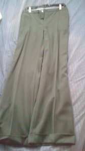 Valentino Wide Leg Pants green