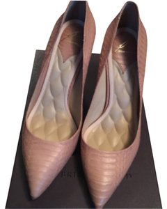 Brian Atwood Tan snake Pumps