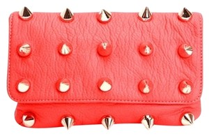 deux lux Coral Red Clutch