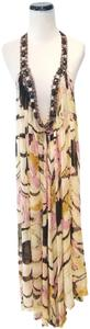 Cream, Pink, Black Maxi Dress by Victoria's Secret Ell & Cee Gown Gwon