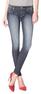 Driftwood Cute Comfortable Distressed Wash Skinny Jeans-Medium Wash