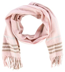 Burberry Beige, black, pink multicolor Burberry Nova check printed wool long scarf New