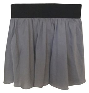 LaROK Mini Skirt Silvef/Gray and Black