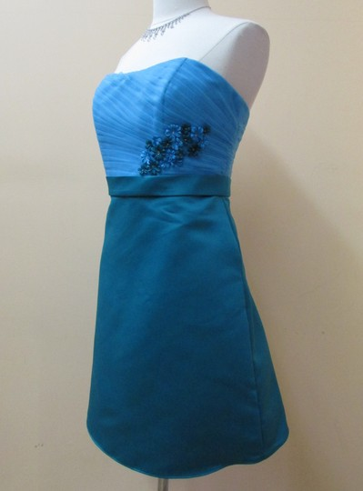 Eden Turquoise/Oasis Tulle 6017 Modern Bridesmaid/Mob Dress Size 12 (L)