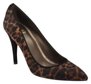 Stuart Weitzman Leopard- Black/Dark Brown Pumps