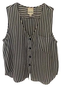 YaYa Top Black & White Striped