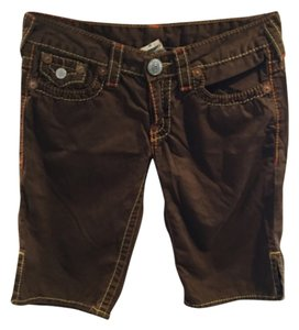 True Religion Bermuda Shorts Brown