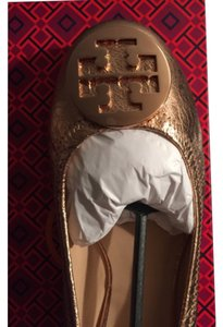 24a4c1121 Tory Burch Rose Gold Flats - item med img. Tory Burch. Rose Gold Reva Flats.  Size  US 10.5 Regular (M ...