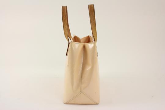 Louis Vuitton Reade Neverfull Vernis Tote in Beige