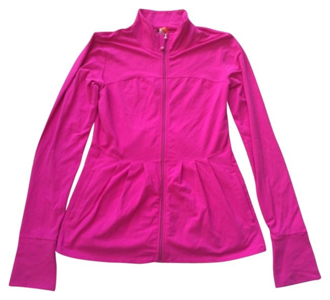 Item - Pink Zip-up Tunic with Thumbholes Activewear Top Size 8 (M, 29, 30)