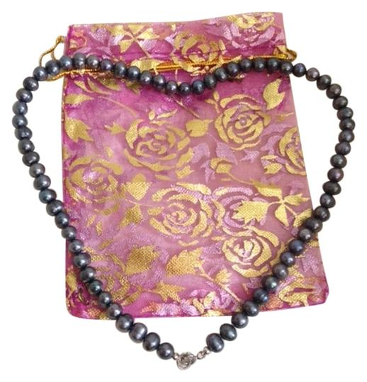 Other 3mm Freshwater Black Pearl Necklace
