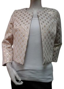 Amanda Uprichard Metallic Gold Beige Jacket