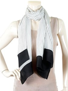 Giorgio Armani Giorgio Armani Accessories - Black and White Dotted Chiffon Silk Scarf