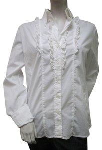 Escada Ruffle Italy Top White