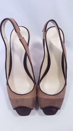 Calvin Klein Gracie Slingback Color-blocking Size 8 Brown Colorblock Sandals
