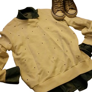 Zara Cream Gold Studs Sweatshirt