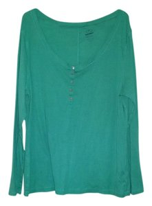 Old Navy Buttons Green Longsleeve Top Seafoam Green