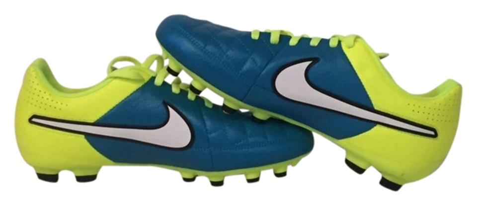 promo code c3f83 bc67c Nike Blue and Yellow Kids Tiempo Legend V Firm-ground Soccer Cleat Sneakers  Size US 5.5 Regular (M, B) 74% off retail