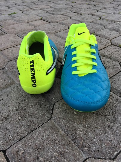 Nike Soccer Sports Soccer Cleats Sneakers Kicks Blue and yellow Athletic