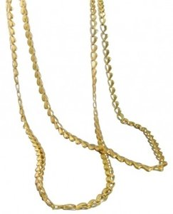 45 inch chain necklace with gold electroplate