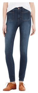 Madewell Sailor Highwaisted Medium Wash Skinny Jeans-Medium Wash