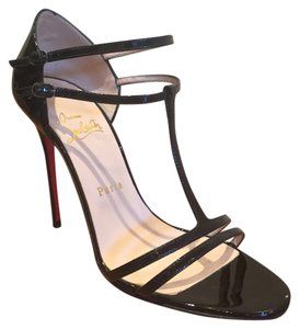 Christian Louboutin Black Patent Sandals