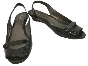 Cole Haan Patent Leather 8.5 BLACK Sandals