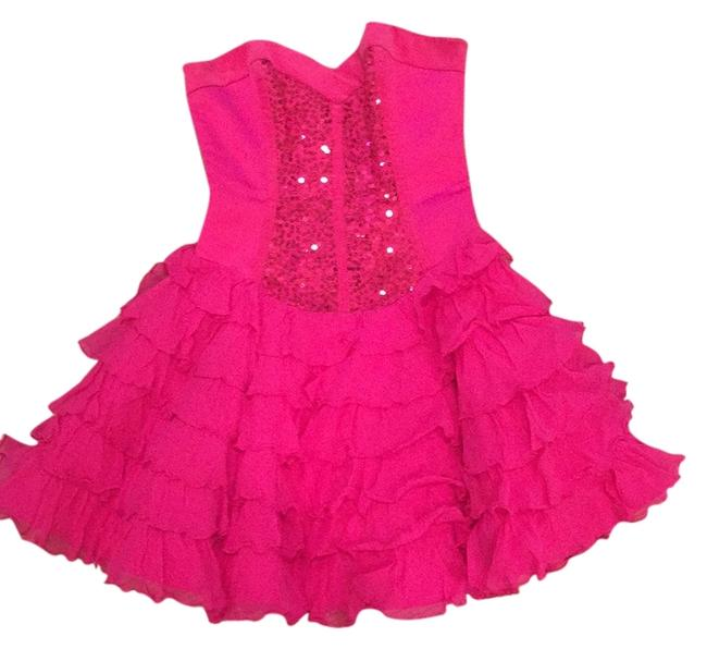 Preload https://img-static.tradesy.com/item/11143999/betsey-johnson-hot-pink-above-knee-night-out-dress-size-2-xs-0-1-650-650.jpg